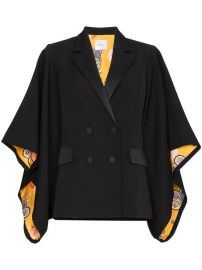 Racil Kyoto Contrast Lining Virgin Wool Kimono Jacket at Farfetch