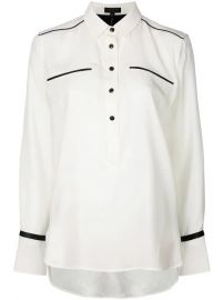 Rag  amp  Bone Contrast Detail Buttoned Shirt - Farfetch at Farfetch