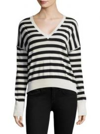Rag   Bone - Bevan Striped Merino Wool Sweater at Saks Off 5th