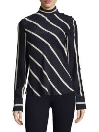 Rag   Bone - Bretton Striped Silk Top at Saks Fifth Avenue