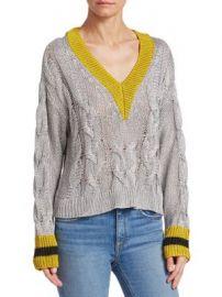 Rag   Bone - Emma Cropped Color Block Sweater at Saks Fifth Avenue