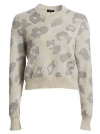 Rag   Bone - Leopard Print Boxy Knit Sweater at Saks Fifth Avenue
