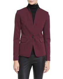 Rag   Bone Archer Two-Tone Stretch Blazer  Port at Neiman Marcus