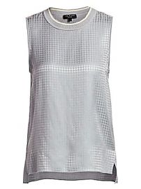 Rag  amp  Bone - Ali Houndstooth Silk Shell Tank Top at Saks Fifth Avenue