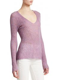 Rag  amp  Bone - Donna Wool-Blend V-Neck at Saks Off 5th
