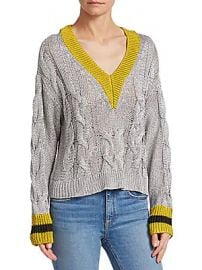 Rag  amp  Bone - Emma Cropped Color Block Sweater at Saks Off 5th