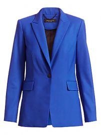 Rag  amp  Bone - Hazel Stretch-Wool Single Button Blazer at Saks Fifth Avenue