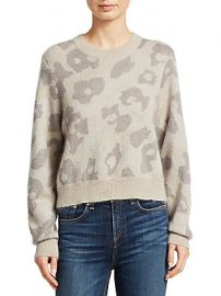 Rag  amp  Bone - Leopard Print Boxy Knit Sweater at Saks Off 5th