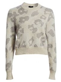 Rag  amp  Bone - Leopard Print Boxy Knit Sweater at Saks Fifth Avenue