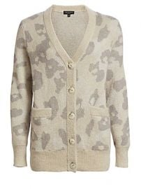 Rag  amp  Bone - Leopard Print Oversize Cardigan at Saks Fifth Avenue