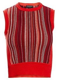 Rag  amp  Bone - Lisse Stripe Knit Tank Top at Saks Fifth Avenue