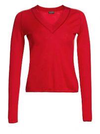 Rag  amp  Bone - Pamela Merino Wool Knit V-Neck Sweater at Saks Fifth Avenue