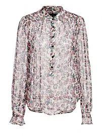 Rag  amp  Bone - Susan Silk Long-Sleeve Floral Blouse at Saks Fifth Avenue