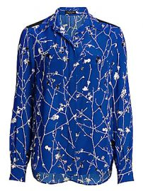 Rag  amp  Bone - Therese Blossom-Print Blouse at Saks Fifth Avenue