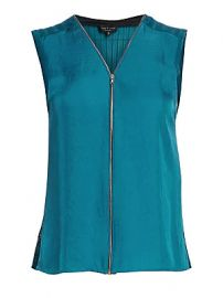 Rag  amp  Bone - Valarie Zip-Front Sleeveless Top at Saks Fifth Avenue