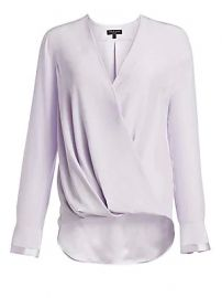 Rag  amp  Bone - Victor Silk Wrap Blouse at Saks Fifth Avenue