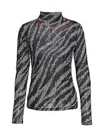 Rag  amp  Bone - Zebra Shaw Turtleneck Sweater at Saks Fifth Avenue