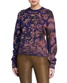 Rag  amp  Bone Alamo Floral Crewneck Sweater at Neiman Marcus