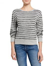 Rag  amp  Bone Avryl Striped Crewneck Sweater at Neiman Marcus