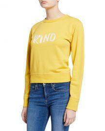 Rag  amp  Bone Be Kind Crewneck Sweatshirt at Neiman Marcus