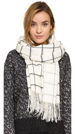 Rag  amp  Bone Brushed Check Scarf at Shopbop