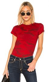 Rag  amp  Bone Camo Tee in Red from Revolve com at Revolve