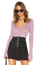 Rag  amp  Bone Donna V Neck Sweater in Lilac from Revolve com at Revolve