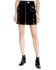 Rag  amp  Bone Heidi Patent Leather Zip Front Mini Skirt at Neiman Marcus