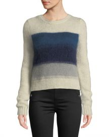 Rag  amp  Bone Holland Cropped Crewneck Sweater at Neiman Marcus