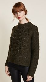 Rag  amp  Bone Jemima Crew Neck Embroidered Sweater at Shopbop