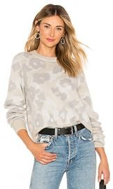 Rag  amp  Bone Leopard Crew Sweater in Mink from Revolve com at Revolve