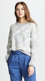 Rag  amp  Bone Leopard Embroidered Crew at Shopbop