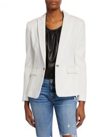 Rag  amp  Bone Lexington Hook-Front Pique Blazer at Neiman Marcus