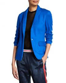 Rag  amp  Bone Lexington Snap-Front Wool Blazer at Neiman Marcus
