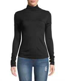 Rag  amp  Bone Leyton Turtleneck Button-Shoulder Sweater at Neiman Marcus