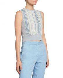 Rag  amp  Bone Lisse Striped Crop Tank Top at Neiman Marcus