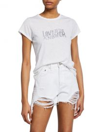 Rag  amp  Bone Love Crewneck Graphic Tee at Neiman Marcus