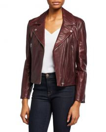 Rag  amp  Bone Mack Leather Moto Jacket at Neiman Marcus