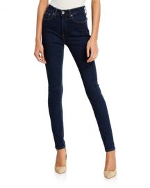 Rag  amp  Bone Nina High-Rise Skinny Ankle Jeans at Neiman Marcus