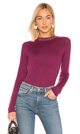 Rag  amp  Bone Pamela Crew Neck Top in Magenta from Revolve com at Revolve