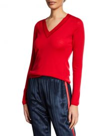 Rag  amp  Bone Pamela V-Neck Merino Wool Sweater at Neiman Marcus