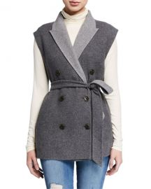 Rag  amp  Bone Pearson Double-Breasted Wool Vest at Neiman Marcus