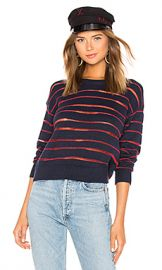 Rag  amp  Bone Penn Sweater in Navy  amp  Red from Revolve com at Revolve