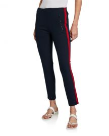 Rag  amp  Bone Simone Side-Stripe Pants with Zip Pockets at Neiman Marcus
