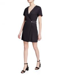 Rag  amp  Bone Tabitha Short-Sleeve Wrap Dress at Neiman Marcus