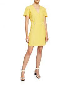 Rag  amp  Bone Tabitha Short-Sleeve Wrap Dress at Neiman Marcus