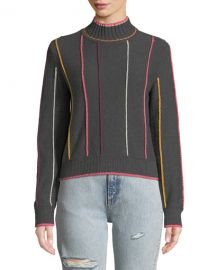 Rag  amp  Bone Tom Embroidered Turtleneck Pullover Sweater at Neiman Marcus