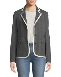 Rag  amp  Bone Uni Button-Front Wool Blazer at Neiman Marcus