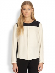 Rag and Bone - Romane Silk Two-Tone Shirt at Saks Fifth Avenue