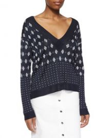 Rag and Bone Abigale Pullover V-Neck Top at Neiman Marcus